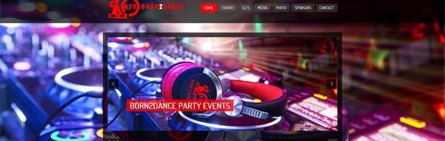 Nieuwe website voor Born2Dance