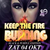 Keep The Fire Burning Black & Purple Edition