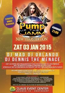 e-Flyer Pump Up The Jam (achter) - 3 januari